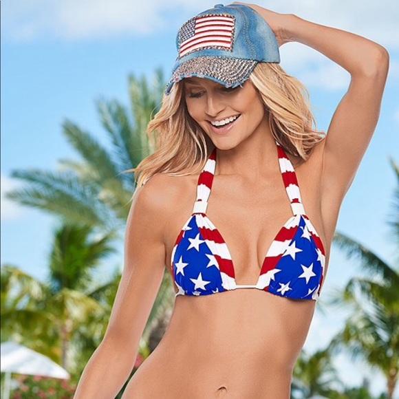 0682952b35 VENUS Swim | Stars Stripes Goddess Triangle Bikini Top | Poshmark